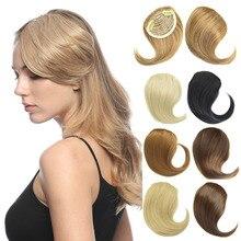 Jeedou, синтетические волосы, имитация челок, клипса, женские волосы для наращивания, косая бахрома, смешанные коричневые накладные Натуральные Прямые Волосы
