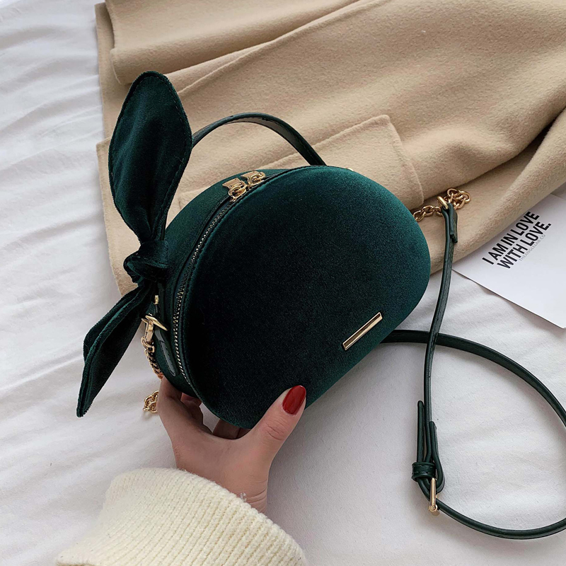 Autumn Winter Velvet Small Bag Women 2020 New Wave Korean Version Messenger Bag Fashion Handbag Foreign Style Shoulder Bag