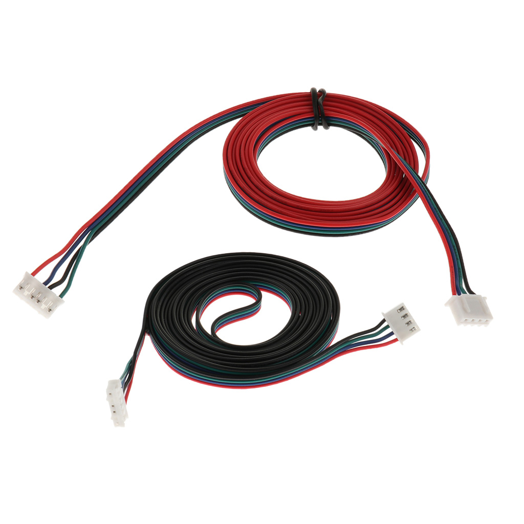 2 Pieces 3D Printer Stepper Motor Copper Connecting Cable XH2.54 1.5m+2m