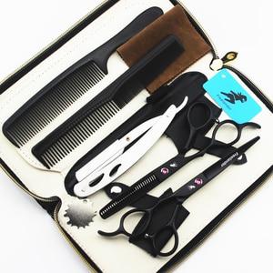 """Image 3 - 5.5/6.0 """"sprzedaż srebrny japoński nożyczki do włosów tanie nożyczki fryzjerskie nożyce fryzjer golarka strzyżenie lewa ręka nożyczki"""