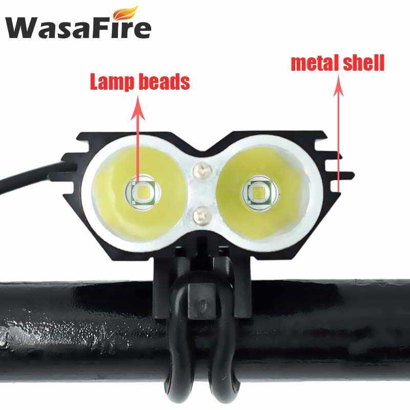 Étanche 5000lm T6 phare de vélo LED vélo avant lumière et batterie Pack et chargeur avertissement de sécurité vélo arrière feux arrière