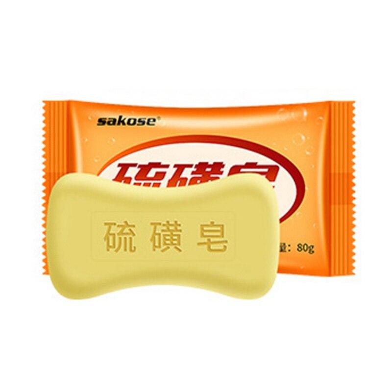 Sulfur Soap Control Oil Anti-mites Anti-acne Cleaning Pores Brighten Skin Color Face Body Soap Hot Sell E1