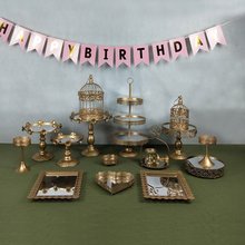 gold wedding cake stand set 14  pieces cupcake barware decorating cooking tools bakeware party dinnerware