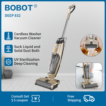 BOBOT DEEP 832 Handheld Washer Vacuum Cleaner Cordless Dry Wet Floor Washer vacuum cleaner Multi-Surface Cleaning UV sterilizati Home Appliances Vacuum Cleaner Handheld