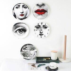 12 Cal odmiana twarz ozdobny talerz Milan Lady Facail portret danie piękna biżuteria przechowywanie okrągłe ceramiczne talerz do serwowania