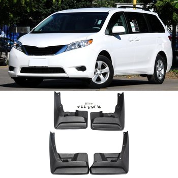 Set of 4 Splash Guard Mud Flaps Mudflaps for Toyota Sienna 2011 2012 2013 2014 2015 2016 2017 Front & Rear Left & Right