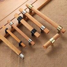 Puxadores de madeira para móveis, puxadores de madeira para móveis, bronze, armário, porta de cozinha preta, moderna, dourado ou ajustável, 128mm 160mm mm