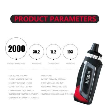 SMOK – Morph Pod-40 Cigarette électronique, Kit Box Mod, batterie 2000mah, système de dosette 3.7ml avec RPM, bobine vaporeuse 40W S147