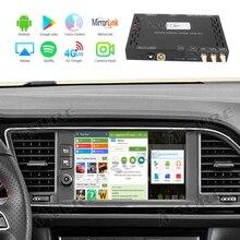 EINE-Sicher auto video interface Android 9,0 AutoRadio GPS Navi Smart Infotainmet Box Für Sitz Ibzia Leon Ateca Arona 4G LTE SIM Wifi
