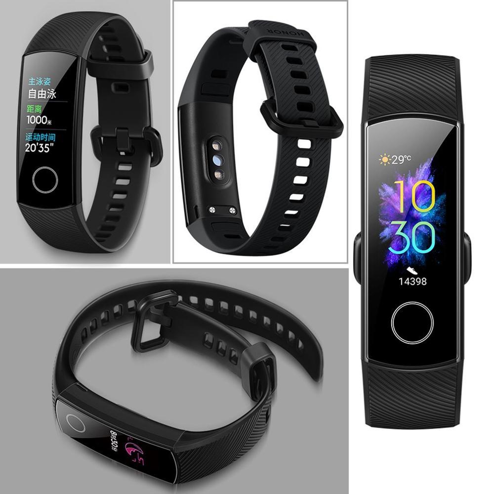Huawei Honor Band 5 Smart Band AMOLED Huawei Smart Bracelet Blood Oxygen Heart Rage Ftness Sleep Tracker Sport Band GPS in Smart Wristbands from Consumer Electronics