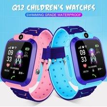 Q12 dziecięcy Smart Watch telefon wodoodporny kg inteligentny zegarek dla dzieci dzieci pozycjonowania otrzymać telefon zwrotny od 2G karty SIM pilot zdalnego lokalizator zegarek chłopcy dziewczęta tanie tanio HAIMAITONG CN (pochodzenie) Android Ubieralny Zgodna ze wszystkimi 512 mb Krokomierz Brak english Dożywotnio wodoodporne