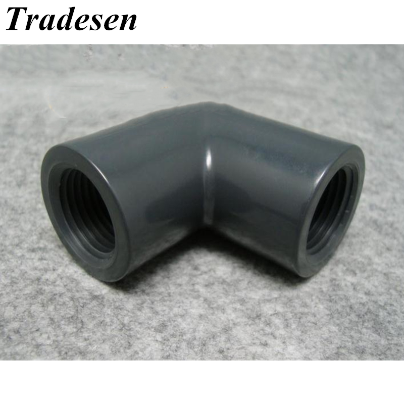 G1/2'-1-1/2Both Side UPVC Female Thread 90 Degree Elbow Connectors High Quality Plastic Irrigation Water PVC Pipe Fittings image