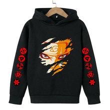 2021 naruto-ninja Akatsuki bluza odzież Anime chłopcy bluza z kapturem jesień cienkie dzieci bluza z kapturem dla dzieci Jogging ubrania nastolatek bluza z kapturem tanie tanio 4-6y 7-12y 12 + y CN (pochodzenie) Wiosna i jesień Damsko-męskie moda COTTON Dobrze pasuje do rozmiaru wybierz swój normalny rozmiar