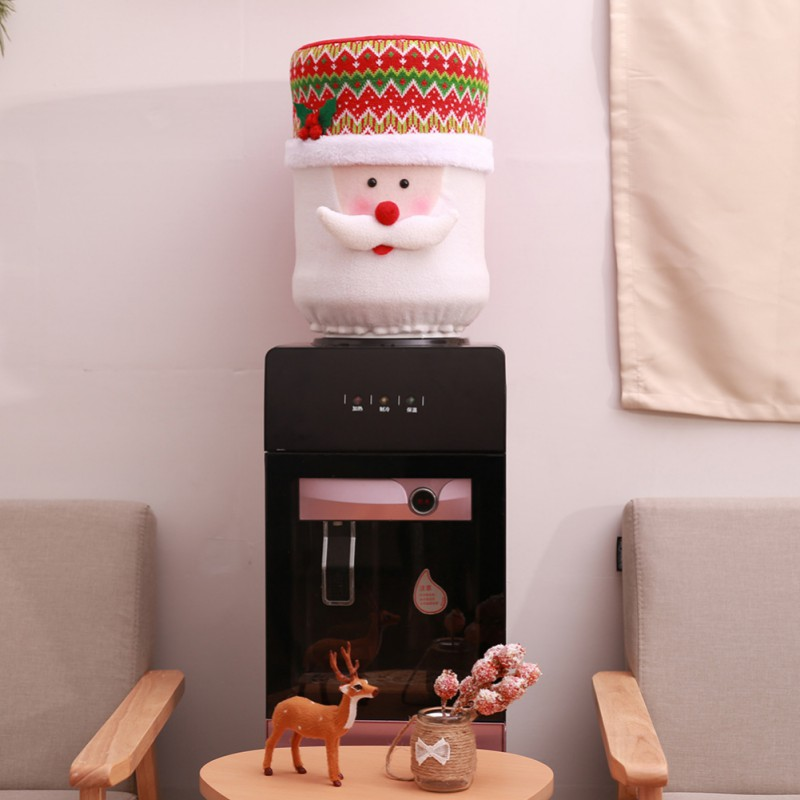 Water dispenser covers Drinking fountain machine Dust bottle protector Christmas Santa Claus Dustproof buket cloth protection