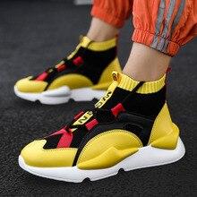 Nieuwe lente en herfst winter mannen hoge schoenen outdoor schoenen ademende zweet absorberende lichtgewicht verhogen schoenen dragen schoenen