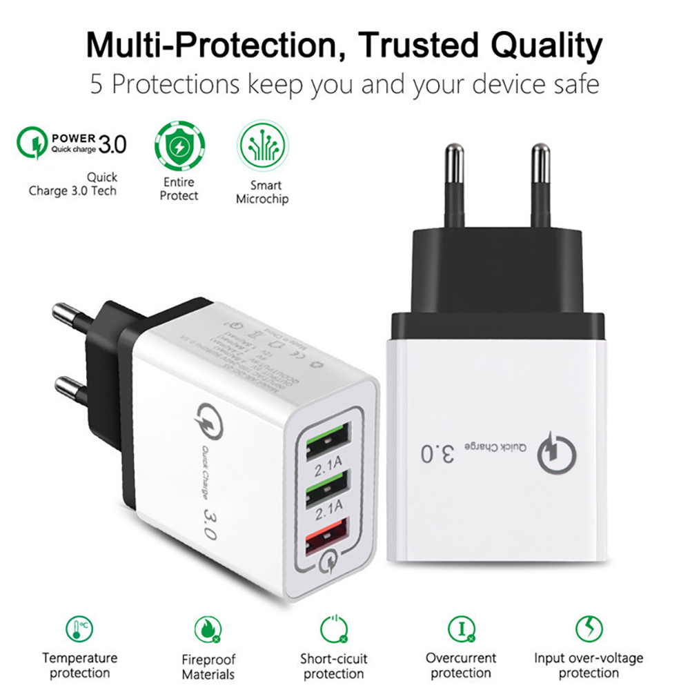 Image 5 - Quick Charge 3.0 USB Charger for iPhone XR 11 Pro Max iPad EU/US Wall Fast Charging Mobile Phone Charger for Huawei Mate 30 Pro-in Mobile Phone Chargers from Cellphones & Telecommunications