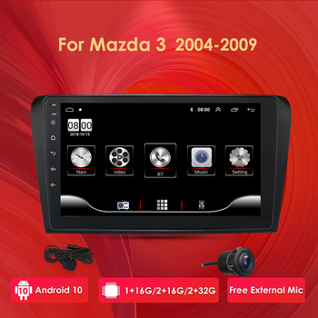 for MAZDA 3 2010 2011 2012 2013 Android 10 9 Inch Rom 16GB Car GPS Navigation Radio Multimedia Player support TPMS DTV DAB OBD2