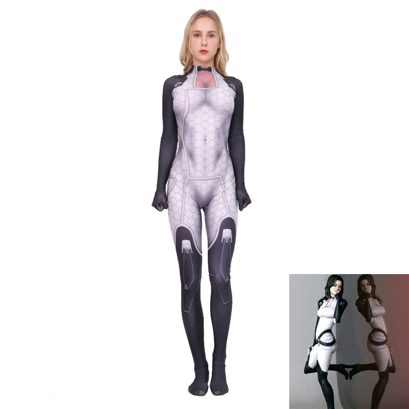 New Arrival Miranda-Lawson Cosplay Mass Effect Character Costume Women Girls Halloween Costume For Adult Kids