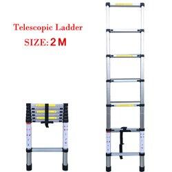 6.56FT (2 m) gospodarstwo domowe składane 7/9/11 kroki rozszerzenie LaddersTelescopic wysuwana 150kg waga niedźwiedzia z mechanizmami blokującymi| |   -