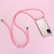 Luxury Lanyard Silicone Phone Case For Samsung Galaxy S20 FE S10 5G S9 S8 Note 20 10 9 Lite Plus Ultra-thin Necklace Rope Cover
