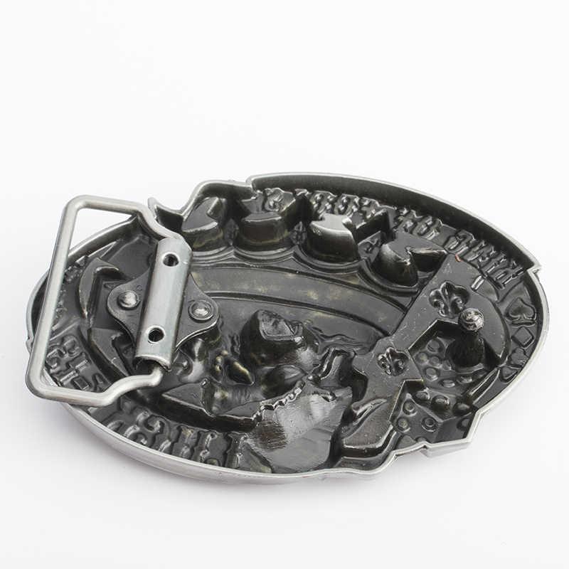 الجمجمة مشبك الفاخرة الشرير الصخرة مصمم الرجال أحزمة عالية الجودة الهيب هوب الذكور حزام سبائك الزنك خواتم ، فقط مشبك