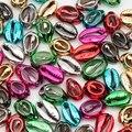 10-50 шт./упак. покрытие бусины из натуральных раковин с отверстием разных Цвет Свободные Spacer Бусины для самостоятельного изготовления ювелир...