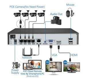 Image 3 - Techage 4CH 5MP POE NVR Camera System AI Camera Two way Audio IP Camera Outdoor Waterproof CCTV Video Security Surveillance Kit