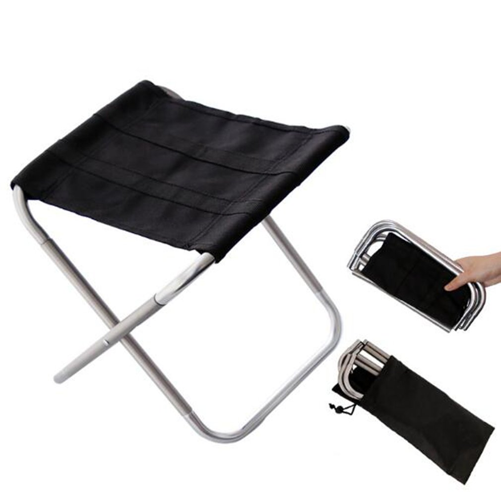 Outdoor Portable Fishing Chair Aluminum Alloy Fishing Camping Barbecue Practical Picnic Folding Chair Stool