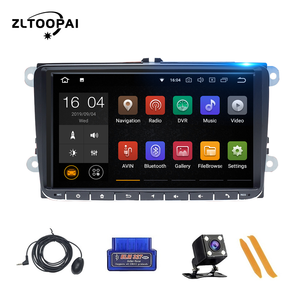 Car Radio GPS Navigation For VW Passat B6 Amarok <font><b>Volkswagen</b></font> Skoda Octavia 2 Superbseat Leon <font><b>Golf</b></font> 5 <font><b>6</b></font> Car <font><b>Multimedia</b></font> Player IPS image