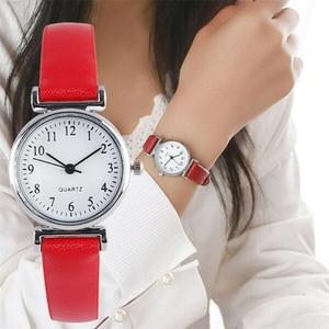 Image 1 - Watch Women Slim Leather Band Analog Quartz Wristwatches Classic Retro Fashion Casual Ladies Clock Relogio Feminino Montre Femme