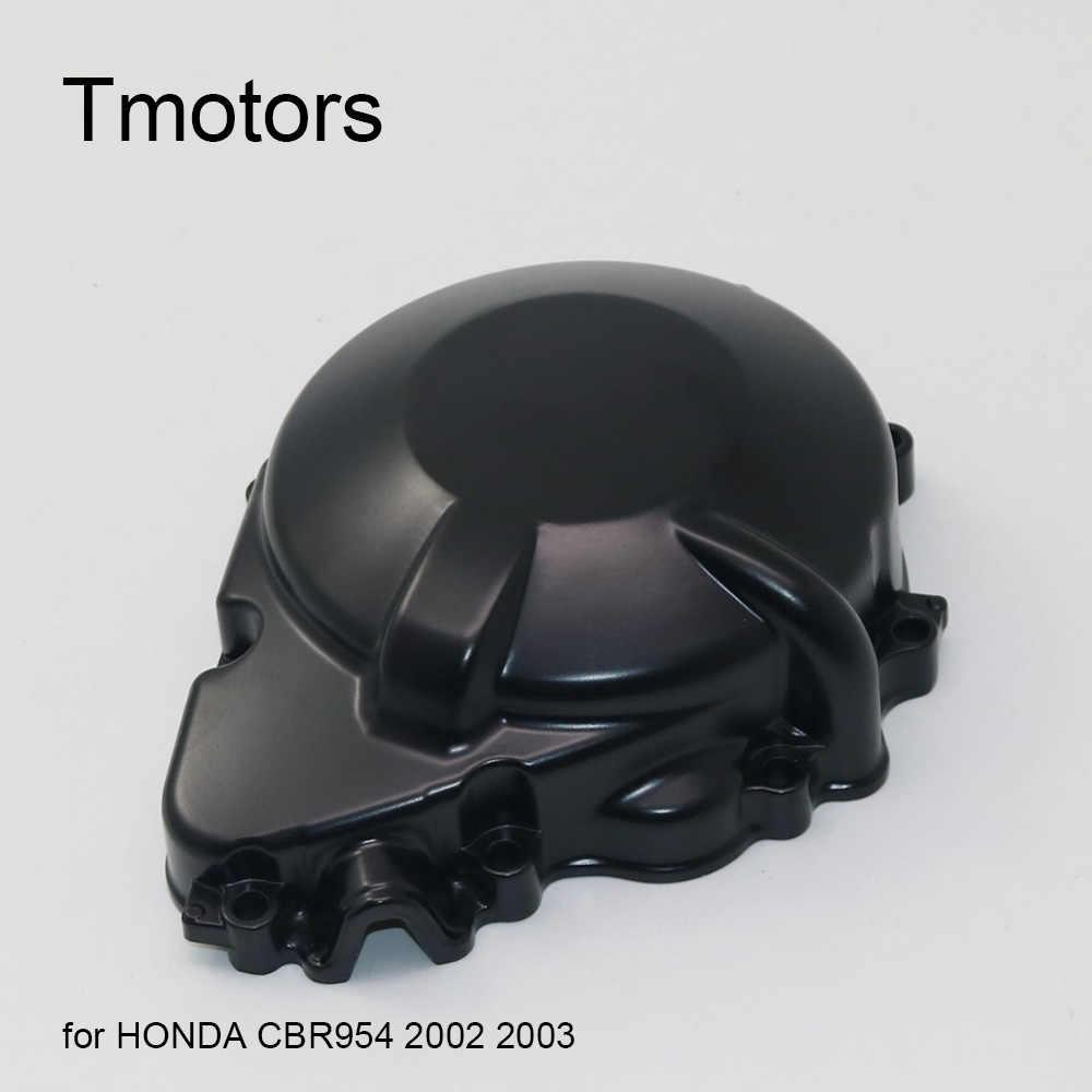 CBR954RR กีฬาจักรยานรถจักรยานยนต์ด้านข้างฝาครอบเครื่องยนต์ Stator Guard Magneto Coil สำหรับ Honda FireBlade CBR954 CBR 954 2002- 2003