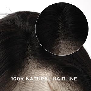 """Image 4 - Neitsi Lockige Spitze Front Menschliches Haar Perücken 100% Remy Haar Vor Gezupft Natürliche Haaransatz 14 """" 22"""" 150% dichte Mit Baby Haar"""