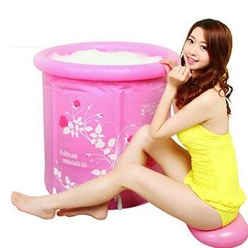 Folding Tub Plastic Bath Barrel Inflatable Bathtub Thickening Tub Adult Bathing Barrel Bathing Barrel