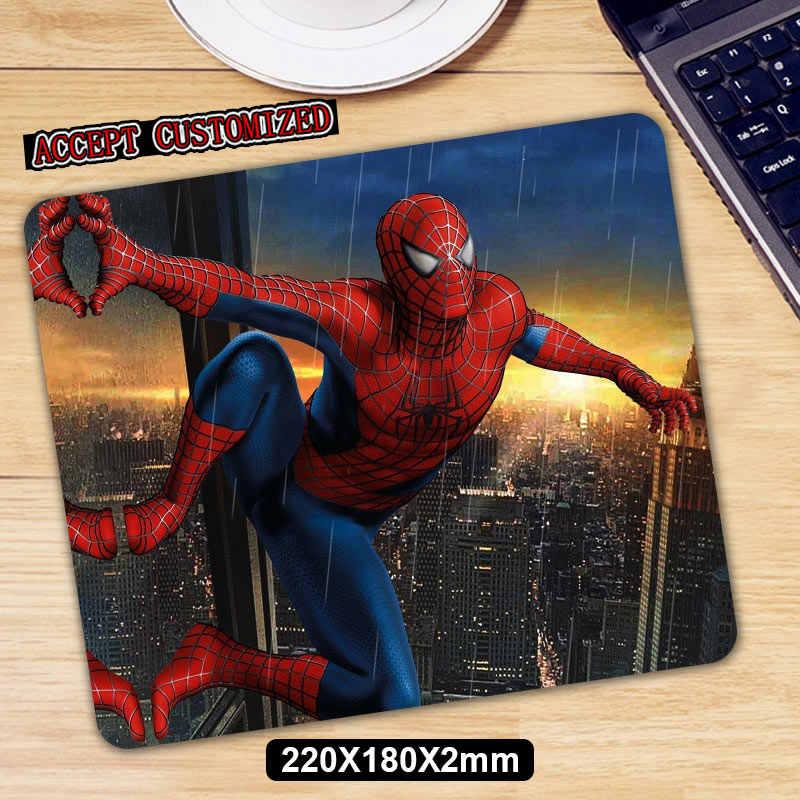 Spider Man Game Mouse Pad Anti-Slip Karet Alam Alas Mouse Keyboard Pad Meja Tikar untuk Laptop Komputer Gamer mousepad