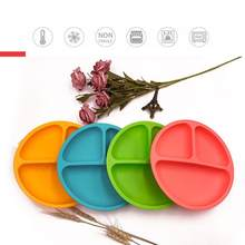 Baby Silicone Dining Dish Tableware Food Storage Tableware Fruit Plates Kids Feeding Plates Bowls Anti-Drop Tray(China)
