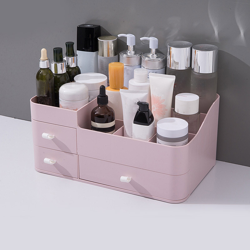 Large Capacity Makeup Organizer Cosmetic Storage Box Nail Polish Organizer Makeup Box Drawer Cosmetic Organizer Container