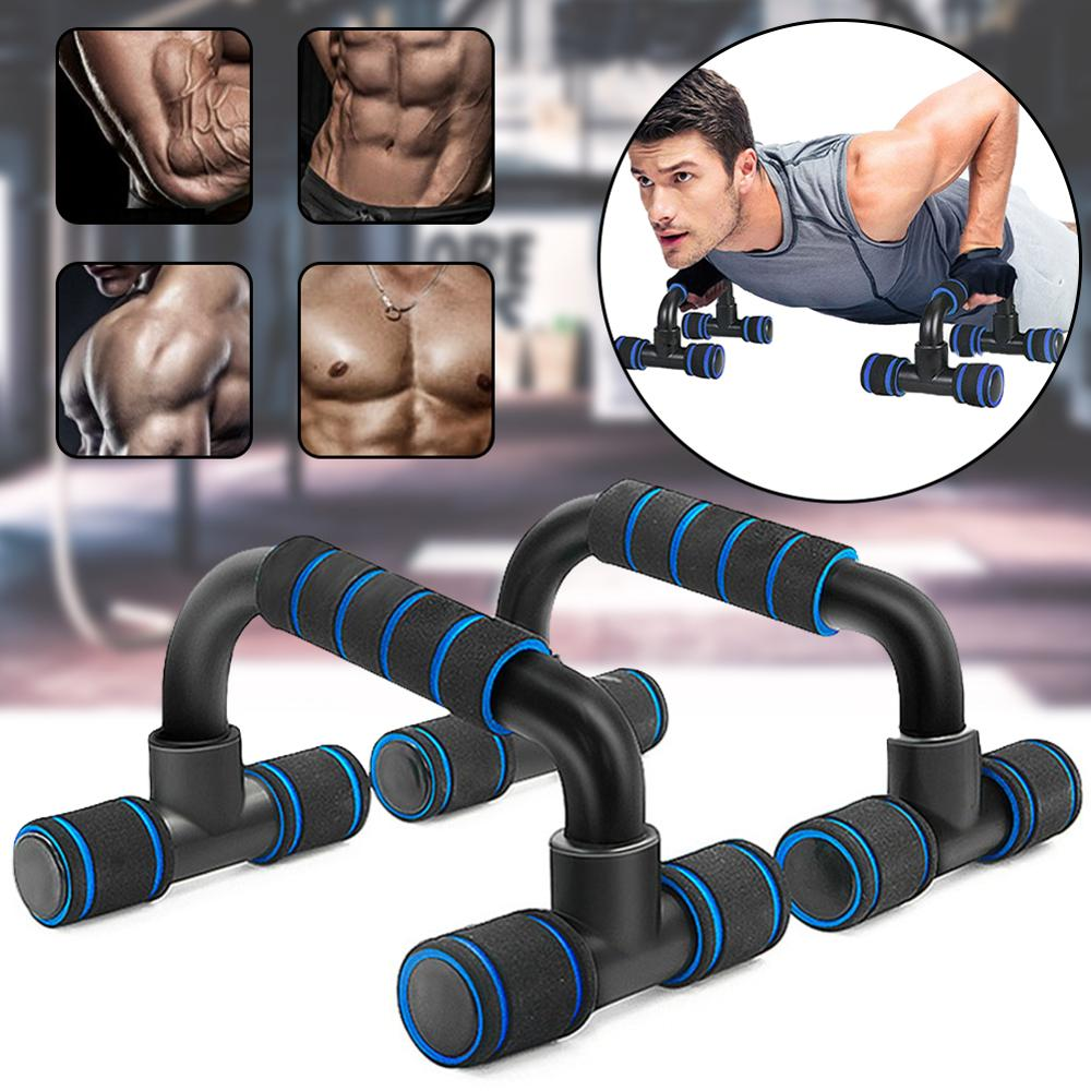 1 Pair Push Up High Quality Steel Push Ups Stand Home Fitness Equipment - Pectoral Muscle Training Device Push Up Support