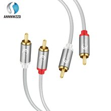 Rca cabo 2rca macho para 2rca macho de áudio estéreo duplo phono cabo de interconexão para alto-falante amplificador dj controlador hdtv