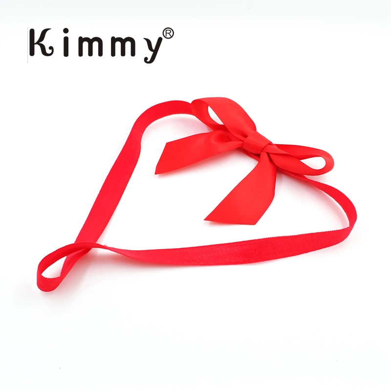 500pcs Red Satin Bow With 17