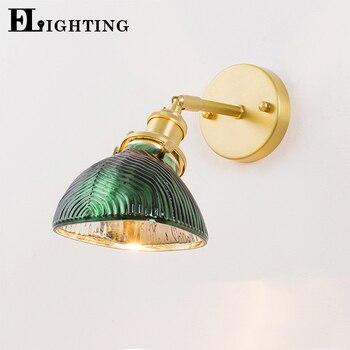 EL Vintage vidrio y cobre lámpara de pared arte con personalidad luz para comedor sala de estar iluminación interior