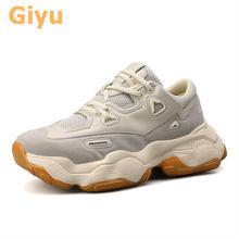 Giyu/Новинка 2020 года; Обувь для пар на плоской подошве; Дышащие
