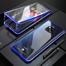 Front And Back Glass Magnetic Case For Huawei Mate 20 Pro 360 Transparent Clear Hard Cover 20Pro Mate20Pro