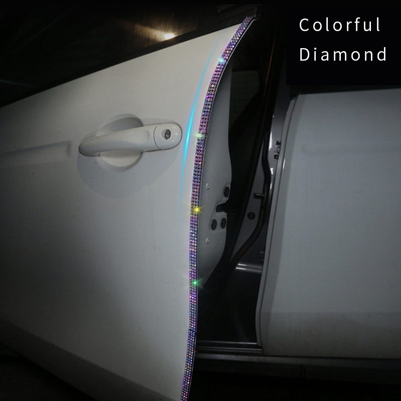 Car Door 3M Sticker Car Multi-function Adhesive Protective Film Fashion Rhinestone Tape Car Protection Scratch-resistant
