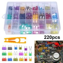 Universal 220Pcs Auto Car Truck Motorcycle Automotive Blade Fuse Assortment Asso