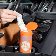 Car Round Tissue Box Multi Functional Storage Mint Facial Paper Preserved Placed In Coffee Cup Seat