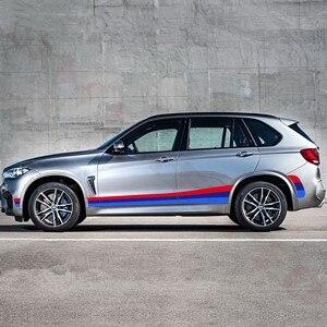 Image 3 - Para bmw e70 e71 f15 f16 f25 f26 tricolor esporte listras porta lateral do carro saia adesivo decalque do vinil corpo automóvel acessórios exteriores