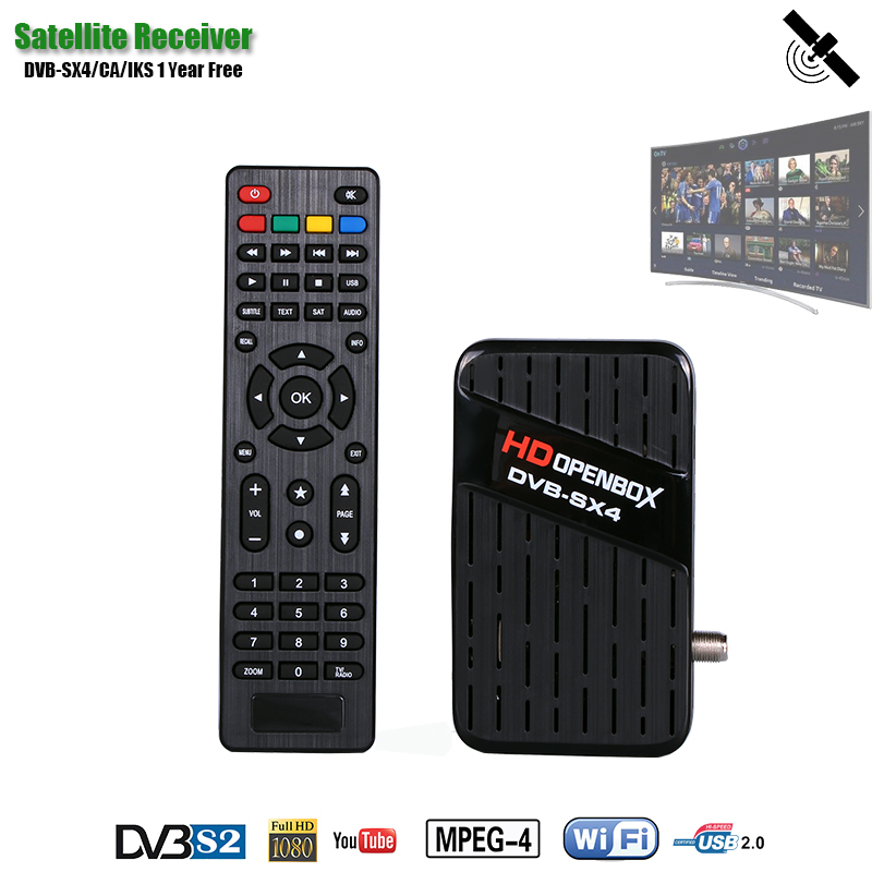 HDOPENBOX Receiver Satellite DVB SX4 Receptor Support CCCAM/CA Satellite TV Receiver IKS 1 Year Free For Russia/Ukraine/Europe