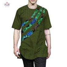 Летняя мужская Лоскутная футболка африканская одежда bazin богатый