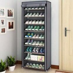 Armario de zapatos de paño antipolvo multicapa combinación de zapatos DIY estante de almacenamiento de zapatos de montaje estantes de acabado para el hogar muebles para el hogar