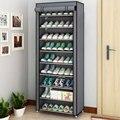 Multi-camada de pano à prova de poeira armário de sapato diy combinação montagem sapato rack de armazenamento de acabamento doméstico prateleiras móveis para casa